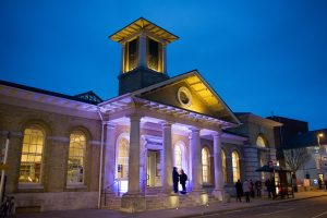Winchester Discovery Centre at night