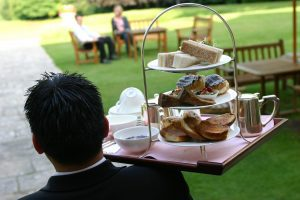 Afternoon tea at Lainston House Hotel