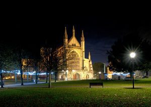 Winchester Cathedral at night © Simon James Newman