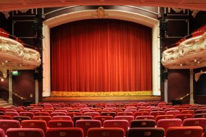 The stage at the Theatre Royal Winchester from the auditorium
