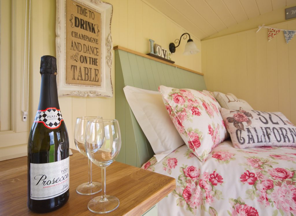 Inside a Shepherd's Hut at Two Hoots