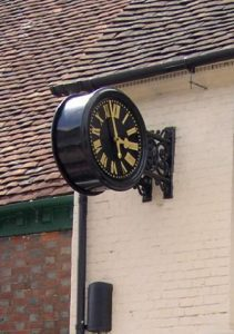 The town clock in Bishop's Waltham