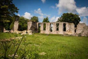 Outside of the Bishop's Waltham Palace Ruins