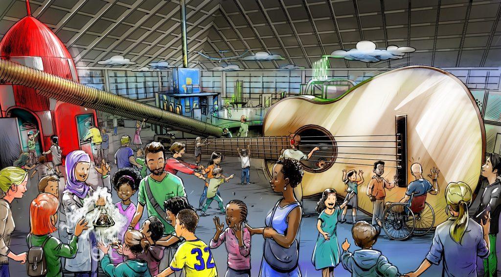 Artist Impression of Winchester Science Centre, Dec 19