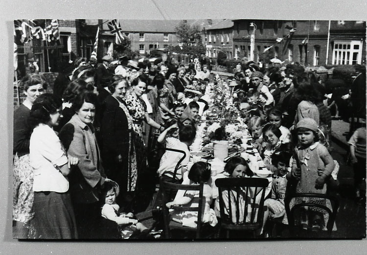 VE Day street party, Western Road, Winchester