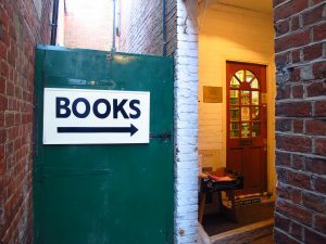 The door to the Winchester Bookshop
