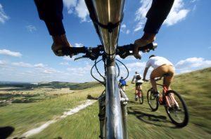 biking along the south downs path