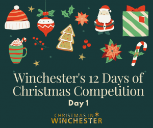 Winchester 12 Days of Christmas Competition with Christmas icons
