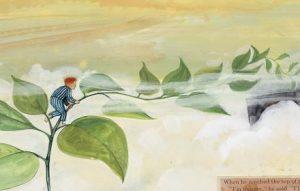 Image of child climbing a beanstalk
