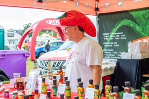 Chilli stand at the Cheese and Chilli Festival