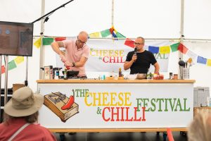 Cooking demonstration at the Cheese and Chilli Festival