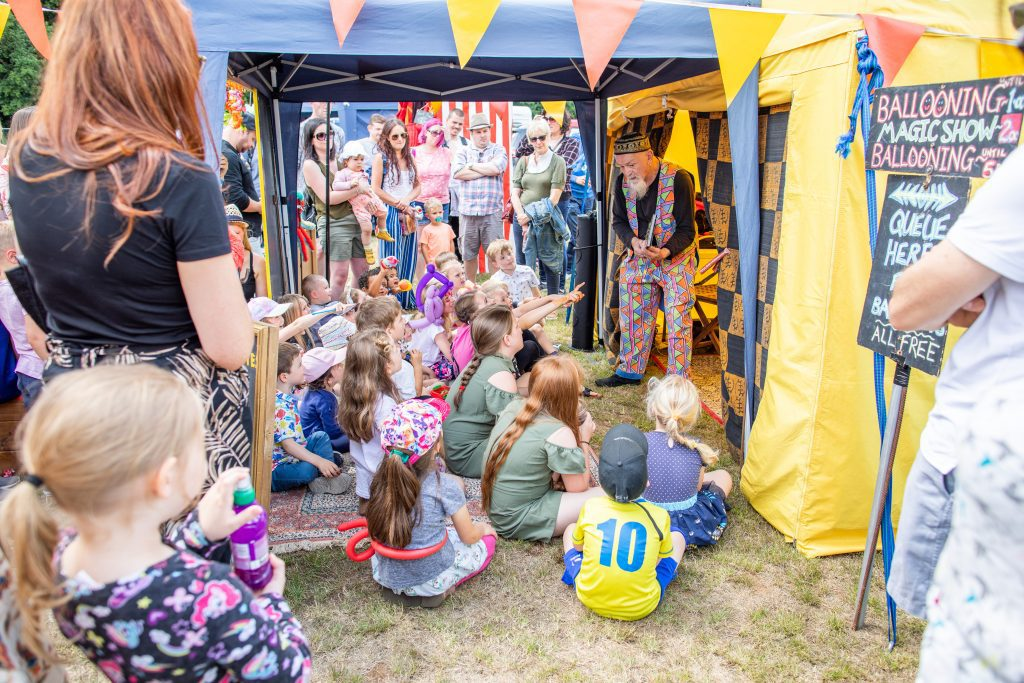 Family entertainment at the Cheese and Chilli Festival